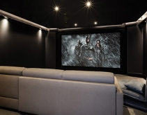 Look Inside a Dark Knight Home Theater with JBL Audio and 4K Video