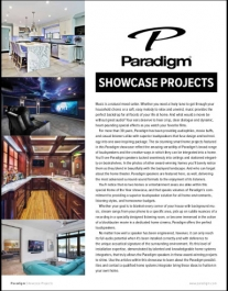 Paradigm Home of the Year Audio and Loudspeakers Projects Showcase