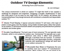 Outdoor TV Design Elements: Achieving Form and Function