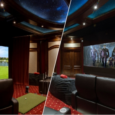 Mascaro Is Thrilled With His New Entertainment Room Which Integrates The Rest Of Homes Elan Automation System For Complete Control