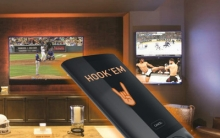 Texas Longhorn Super-Fan Gets 5-Screen Home Theater with Burnt-Orange Smart Lights