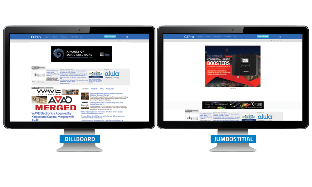 CE Pro Billboard / Jumbostitial