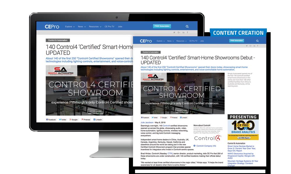 CE Pro Content Creation