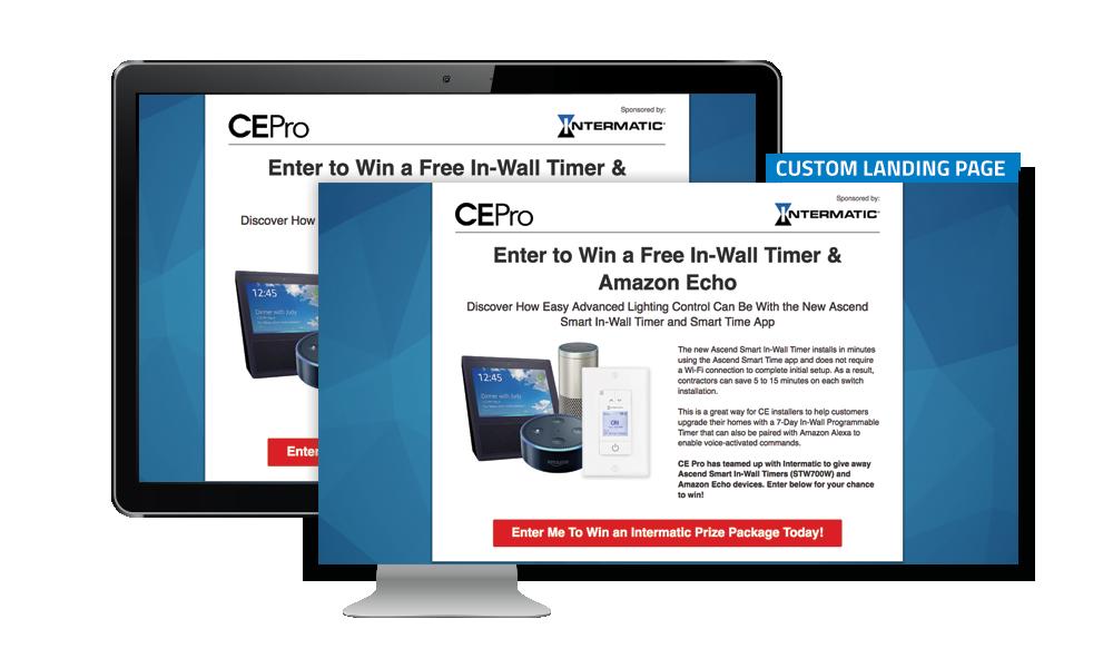 CE Pro Custom Landing Page