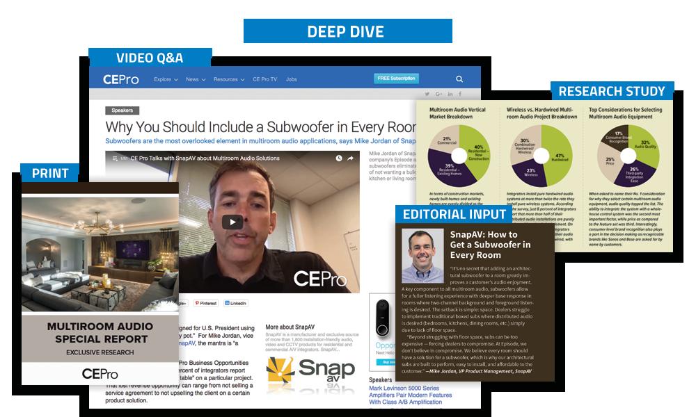 CE Pro Deep Dives