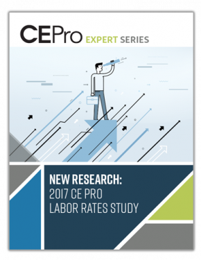 New Research: 2017 CE Pro Labor Rates Study