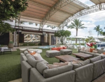 Crestron Powered Outdoor Party Space Keeps the Family Safe and Jacuzzi Bubbling