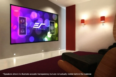 Elite Screens Aeon AUHD Screen Complements Discreet Installations