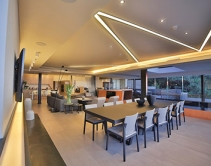 Ultra-Modern Johannesburg Home Gets Unique Lighting Design and Home Theater