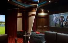 Home Theater Turns into Golf Simulator with Press of an Elan Button