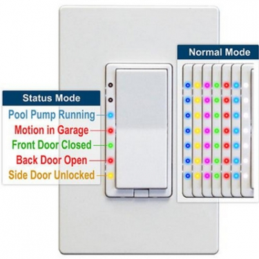 HomeSeer's New Z-Wave Switches have Multicolored LEDs that Respond to Home-Automation Events