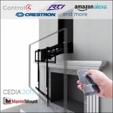 A first for mantelmount motorized drop down tv mount for - Pull down tv mount over fireplace ...
