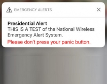 Presidential Alert Causes False-Alarm Headaches