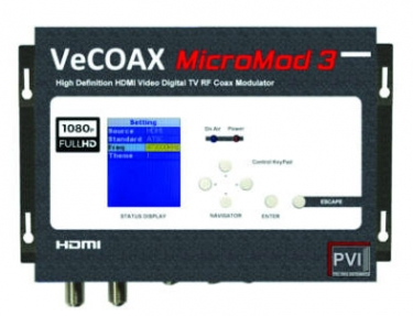 ProVideoInstruments VeCOAX MicroMod-3 Sends 1080p Video to Endless Displays via Coax