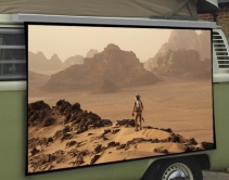 SI Solo is One Fun, Wire-Free, Portable Video Projection Screen