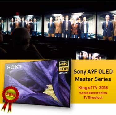 Sony A9F Master Series OLED Wins 2018 'King of TV' Shootout