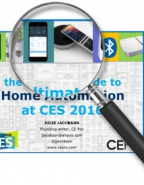 New! Ultimate (Searchable) Guide to Home Automation at CES 2016, 100+ Pages