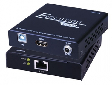 Vanco Evolution HDMI Extender with KVM and PoE Extends Signals 160 Feet