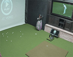 Golf-Themed Basement Gets Home Technology Mulligan