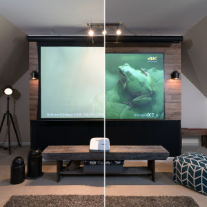 CES 2016: Elite Screens EPV Demos Ambient, Ceiling Light Rejecting Material